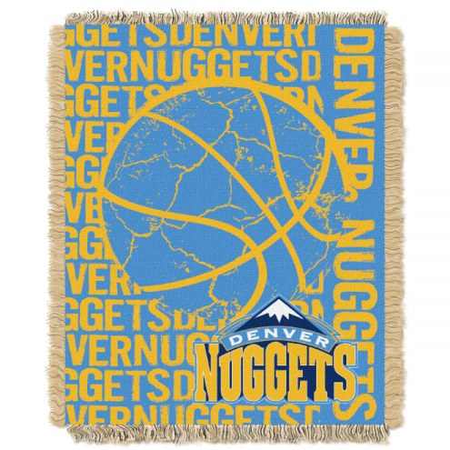 Denver Nuggets Woven Jacquard Throw Blanket