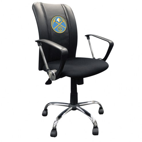 Denver Nuggets XZipit Curve Desk Chair with Secondary Logo