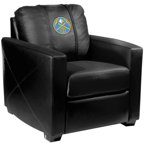 Denver Nuggets XZipit Silver Club Chair with Secondary Logo