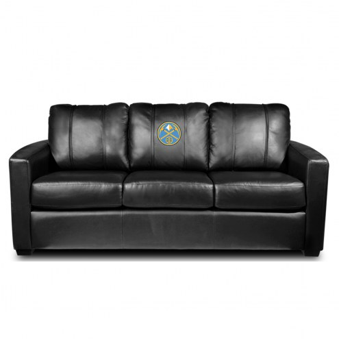 Denver Nuggets XZipit Silver Sofa with Secondary Logo