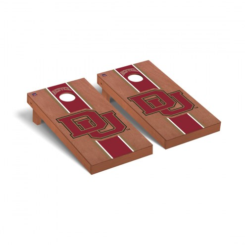 Denver Pioneers Rosewood Stained Stripe Cornhole Game Set