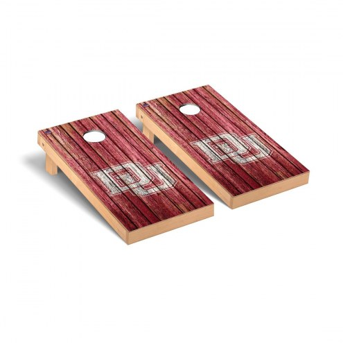 Denver Pioneers Weathered Cornhole Game Set