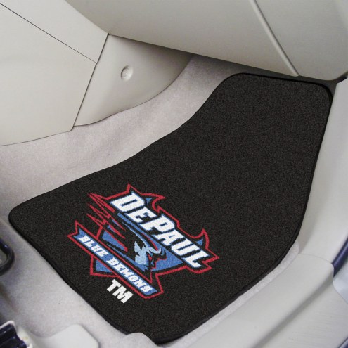 DePaul Blue Demons 2-Piece Carpet Car Mats