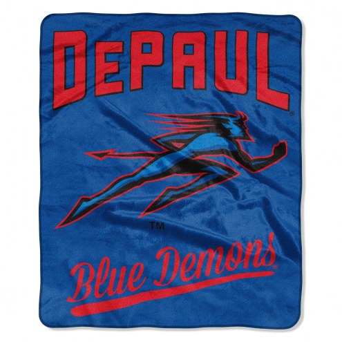 DePaul Blue Demons Alumni Raschel Throw Blanket