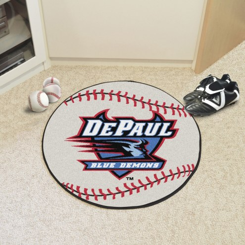DePaul Blue Demons Baseball Rug