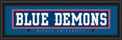 "DePaul Blue Demons ""Blue Demons"" Stitched Jersey Framed Print"