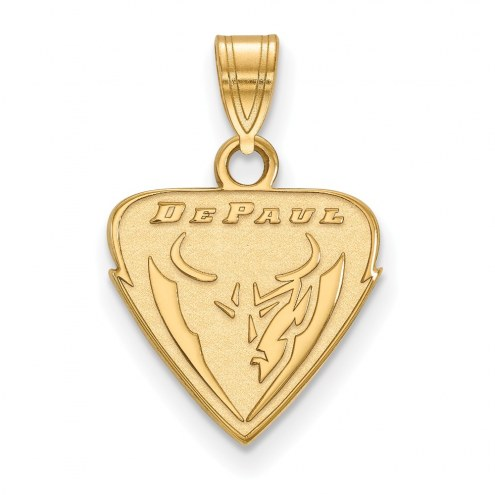 DePaul Blue Demons College Sterling Silver Gold Plated Small Pendant
