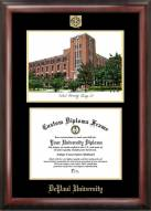 DePaul Blue Demons Gold Embossed Diploma Frame with Campus Images Lithograph