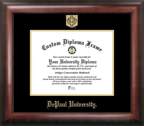DePaul Blue Demons Gold Embossed Diploma Frame