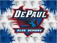 DePaul Blue Demons Logo Canvas Print