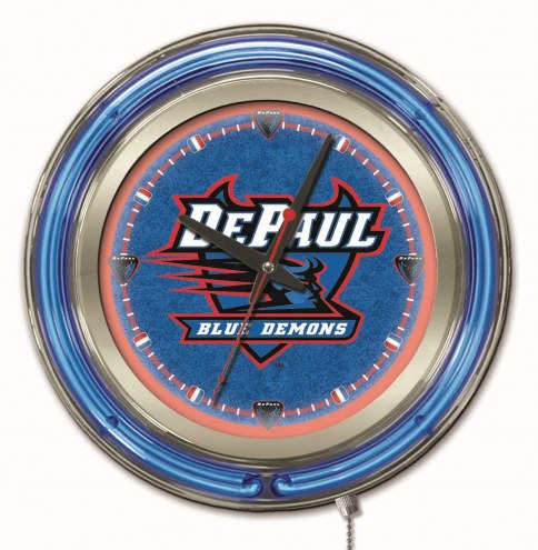 DePaul Blue Demons Neon Clock