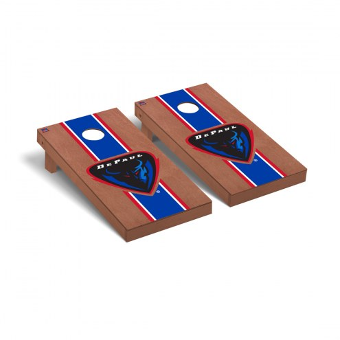 DePaul Blue Demons Rosewood Stained Cornhole Game Set