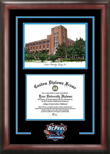 DePaul Blue Demons Spirit Diploma Frame with Campus Image