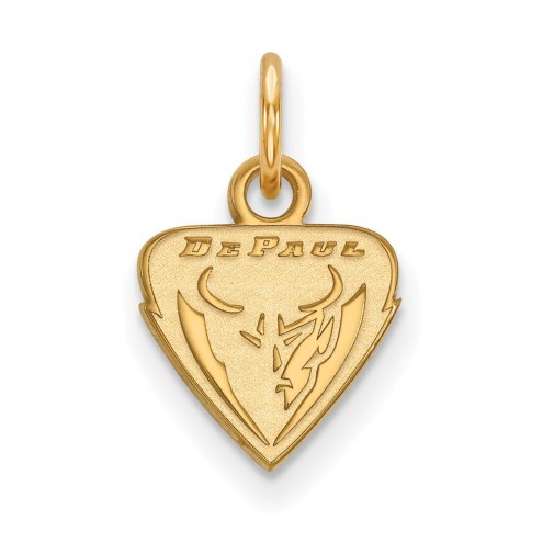 DePaul Blue Demons Sterling Silver Gold Plated Extra Small Pendant