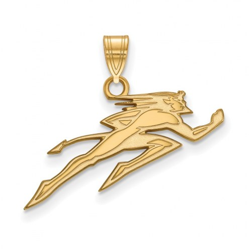 DePaul Blue Demons Sterling Silver Gold Plated Small Pendant