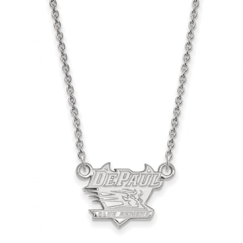 DePaul Blue Demons Sterling Silver Small Pendant Necklace