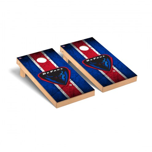 DePaul Blue Demons Vintage Cornhole Game Set