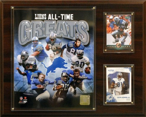 "Detroit Lions 12"" x 15"" All-Time Great Plaque"