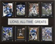 """Detroit Lions 12"""" x 15"""" All-Time Greats Plaque"""