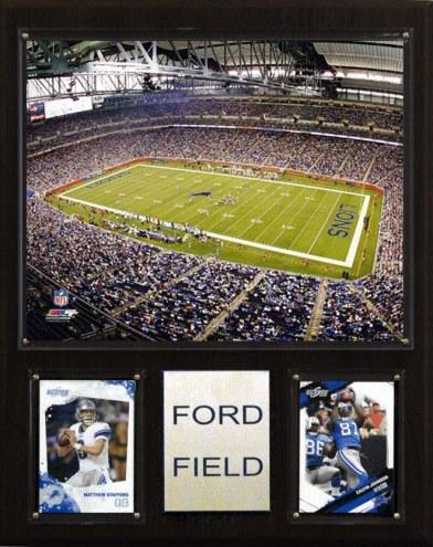 """Detroit Lions 12"""" x 15"""" Stadium Plaque"""