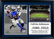 "Detroit Lions 12"" x 18"" Calvin Johnson Photo Stat Frame"