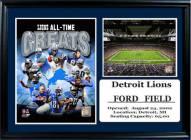 "Detroit Lions 12"" x 18"" Greats Photo Stat Frame"