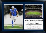 "Detroit Lions 12"" x 18"" Matthew Stafford Photo Stat Frame"