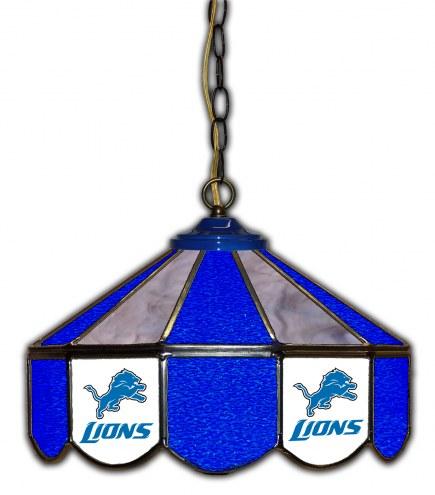 """Detroit Lions 14"""" Glass Pub Lamp"""