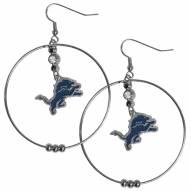 """Detroit Lions 2"""" Hoop Earrings"""