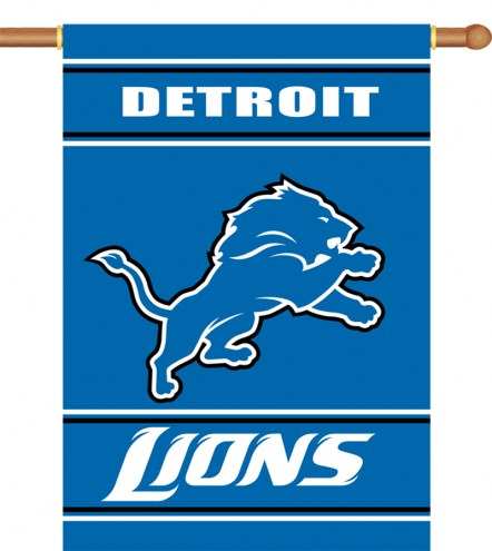 "Detroit Lions 28"" x 40"" Two-Sided Banner"