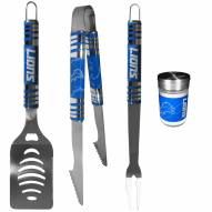 Detroit Lions 3 Piece Tailgater BBQ Set and Season Shaker