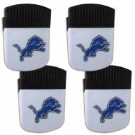 Detroit Lions 4 Pack Chip Clip Magnet with Bottle Opener