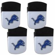 Detroit Lions 4 Pack Chip Clip Magnet with Bottle Opener