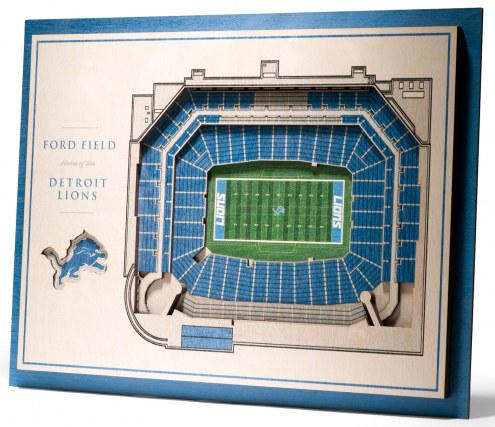 Detroit Lions 5-Layer StadiumViews 3D Wall Art