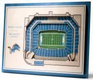 Detroit Lions 5-Layer StadiumViews 3D Wall Art