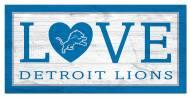 """Detroit Lions 6"""" x 12"""" Love Sign"""