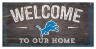 """Detroit Lions 6"""" x 12"""" Welcome Sign"""