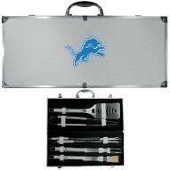 Detroit Lions 8 Piece Stainless Steel BBQ Set w/Metal Case