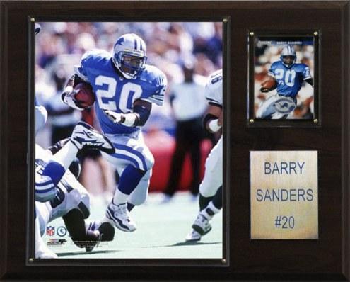 """Detroit Lions Barry Sanders 12 x 15"""" Player Plaque"""