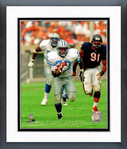 Detroit Lions Barry Sanders 1997 Action Framed Photo
