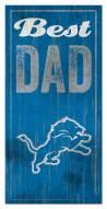 Detroit Lions Best Dad Sign