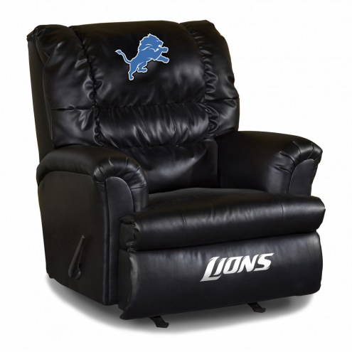 Detroit Lions Big Daddy Leather Recliner