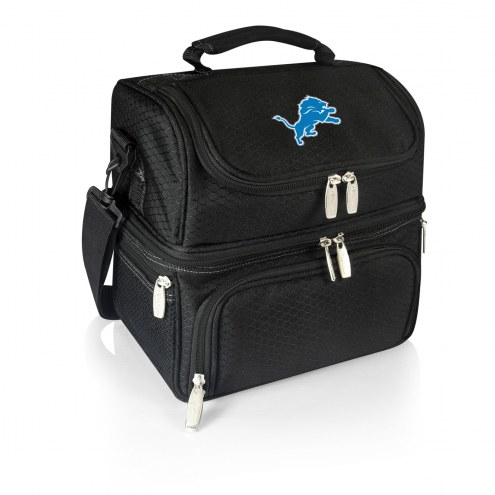 Detroit Lions Black Pranzo Insulated Lunch Box