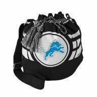 Detroit Lions Black Ripple Drawstring Bucket Bag