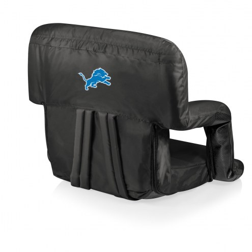 Detroit Lions Black Ventura Portable Outdoor Recliner