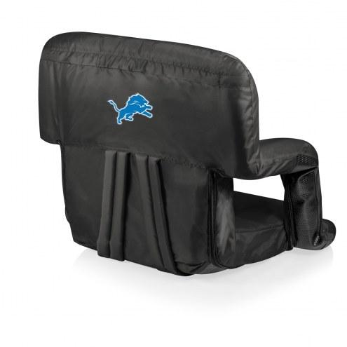 Detroit Lions Black Ventura Portable Outdoor Recliner