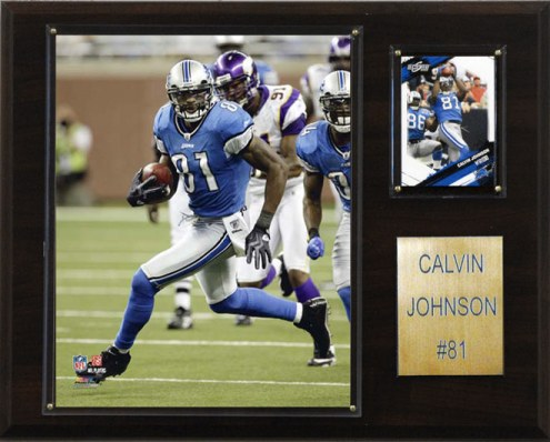 """Detroit Lions Calvin Johnson 12 x 15"""" Player Plaque"""