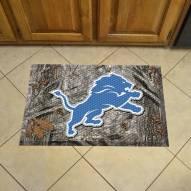 Detroit Lions Camo Scraper Door Mat
