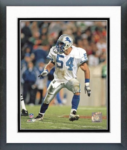 Detroit Lions Chris Spielman Action Framed Photo