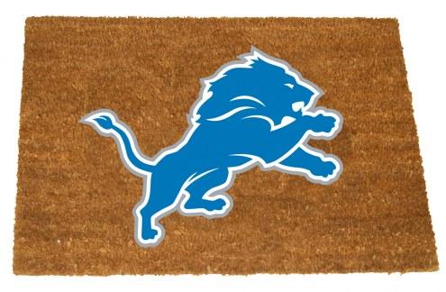 Detroit Lions Colored Logo Door Mat
